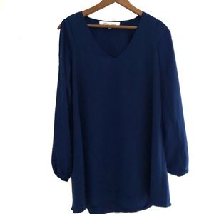 Lovers + Friends Blue Open Sleeve Dress